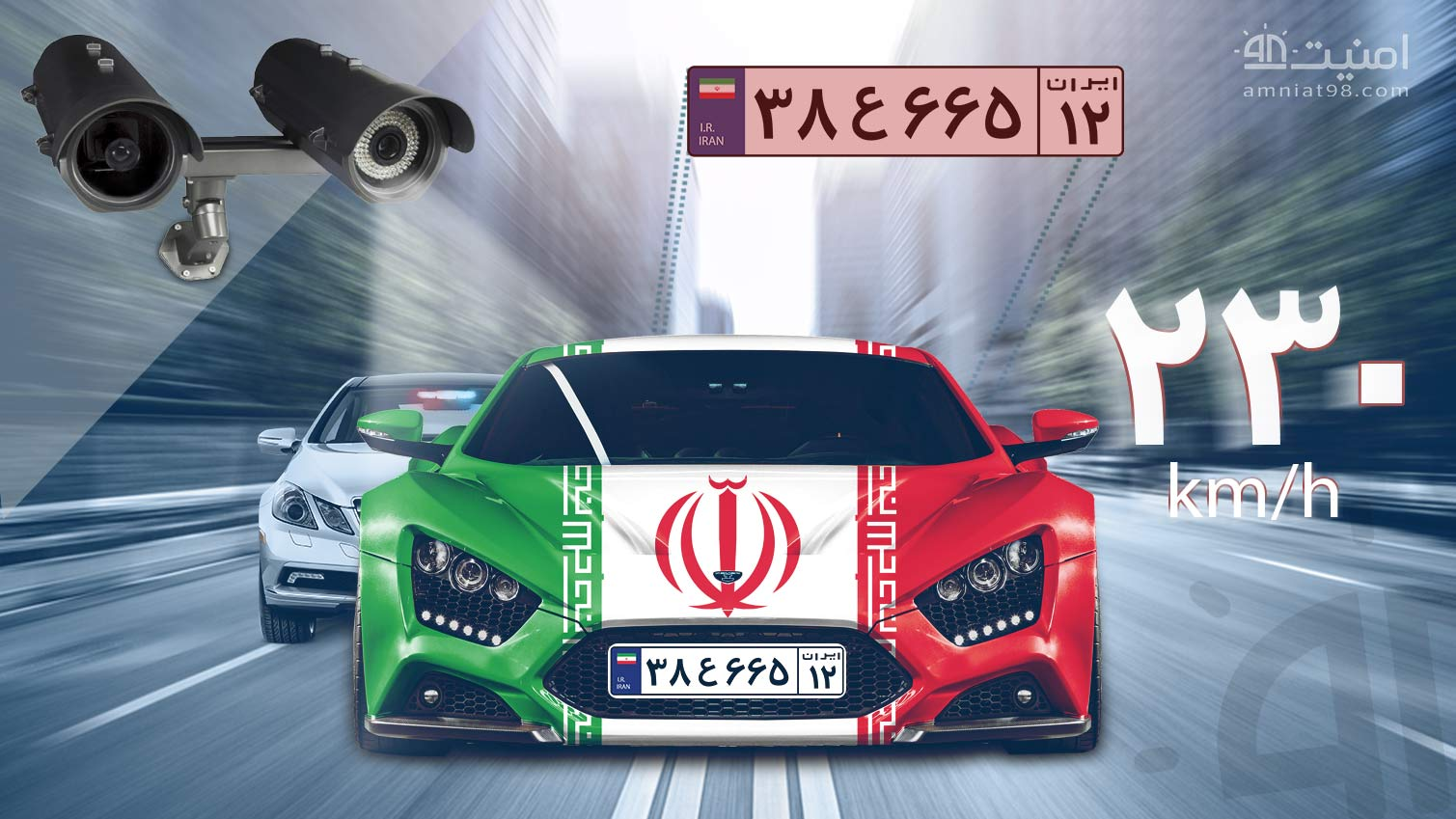 License Plate Recognition Cameras amniat98 - دوربین پلاک خوان + ویدیو