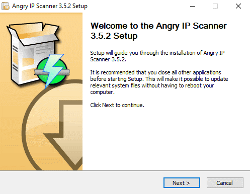Angry IP Scanner setup